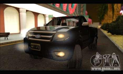 Ford Ranger Cabina Simple 2013 para la visión correcta GTA San Andreas