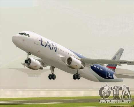 Airbus A320-200 LAN Argentina para vista lateral GTA San Andreas