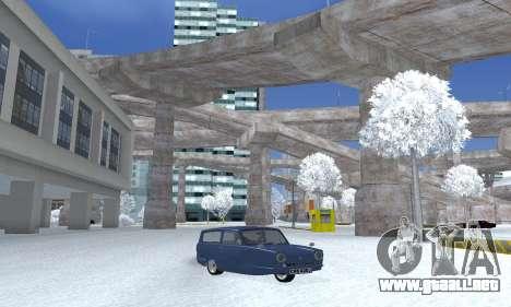 Reliant Supervan III para GTA San Andreas vista posterior izquierda