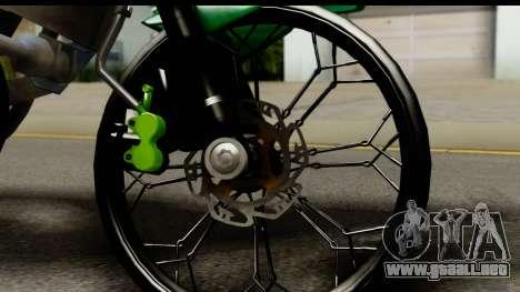 Kawasaki Ninja R Drag para GTA San Andreas vista hacia atrás