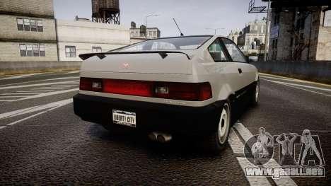 Dinka Blista Compact ST para GTA 4 Vista posterior izquierda