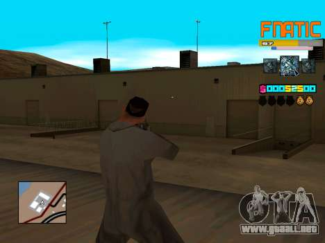 C-HUD Fnatic para GTA San Andreas segunda pantalla