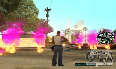 New Pink Effects para GTA San Andreas quinta pantalla