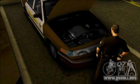 Ford Crown Victoria 1994 Sheriff para GTA San Andreas vista hacia atrás