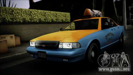 Taxi Vapid Stanier II from GTA 4 IVF para vista lateral GTA San Andreas