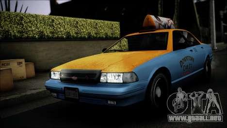 Taxi Vapid Stanier II from GTA 4 IVF para vista lateral GTA San Andreas