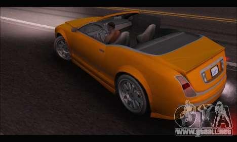 Enus Cognoscenti Cabrio (GTA V) (IVF) para GTA San Andreas vista posterior izquierda