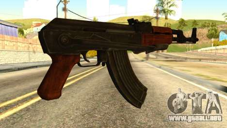 AK47 from Global Ops: Commando Libya para GTA San Andreas segunda pantalla