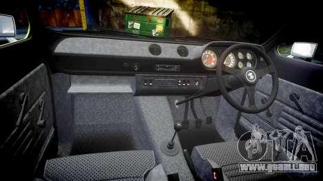 Ford Escort RS1600 PJ62 para GTA 4 vista interior