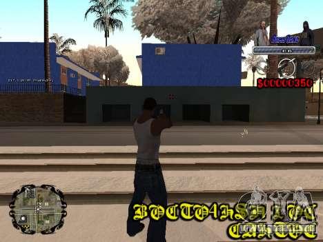 C-HUD Bomj Gang para GTA San Andreas sucesivamente de pantalla