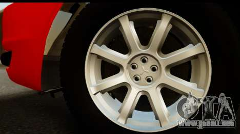 Mitsubishi Lancer X Stock para la visión correcta GTA San Andreas