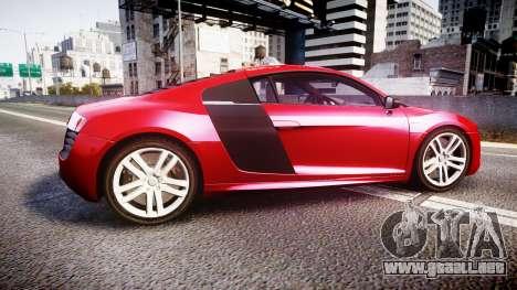 Audi R8 E-Tron 2014 para GTA 4 left