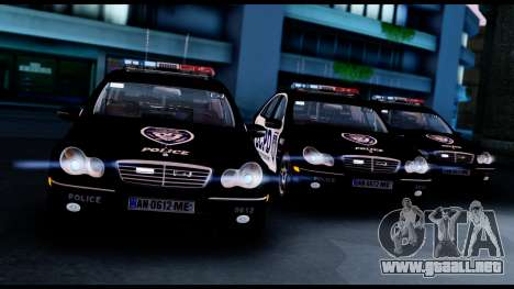 Mercedes-Benz C32 AMG Police para GTA San Andreas
