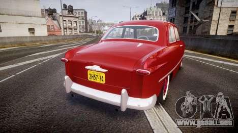 Ford Custom Tudor 1949 para GTA 4 Vista posterior izquierda