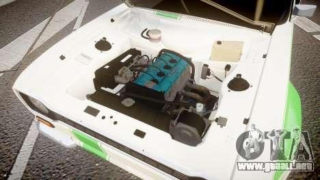 Ford Escort RS1600 PJ48 para GTA 4 vista hacia atrás