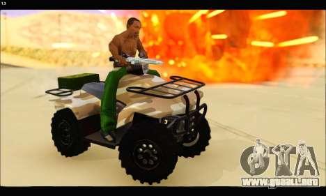 ATV Army Edition v.3 para GTA San Andreas vista hacia atrás