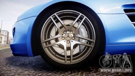 Mersedes-Benz SLS AMG 2010 para GTA 4 vista hacia atrás