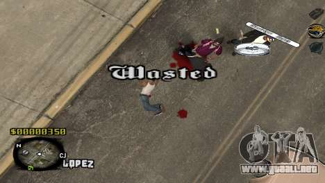 C-HUD Sigara para GTA San Andreas tercera pantalla