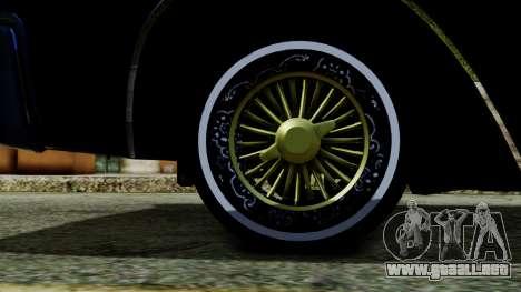 Lincoln Continental para GTA San Andreas vista posterior izquierda