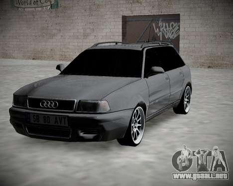 Audi 80 B4 Antes de la PROHIBICIÓN.RF para GTA San Andreas vista hacia atrás