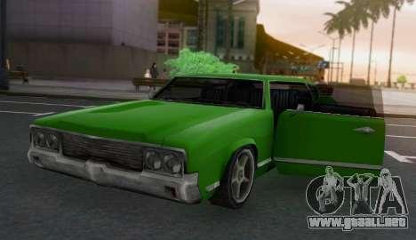 Sabre Limousine para GTA San Andreas vista hacia atrás