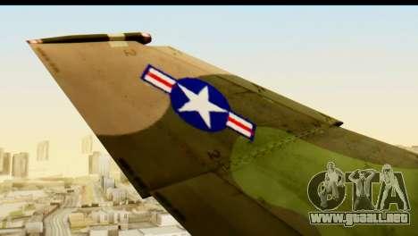 F-4 Vietnam War Camo para GTA San Andreas vista hacia atrás