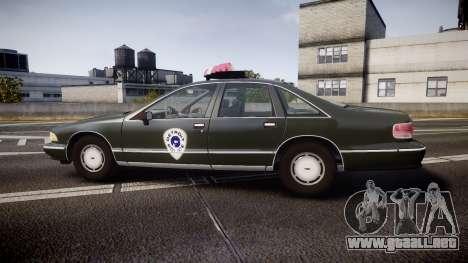 Chevrolet Caprice 1993 Detroit Police para GTA 4 left