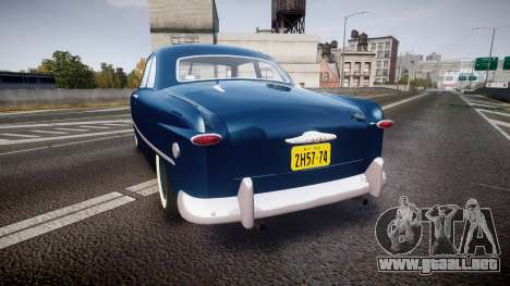 Ford Custom Club 1949 para GTA 4 Vista posterior izquierda