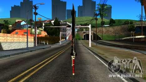 New Katana para GTA San Andreas segunda pantalla