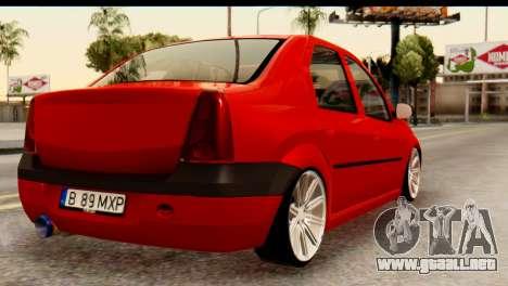 Dacia Logan MXP para GTA San Andreas left
