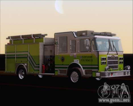 Pierce Arrow XT Miami Dade FD Engine 45 para GTA San Andreas left