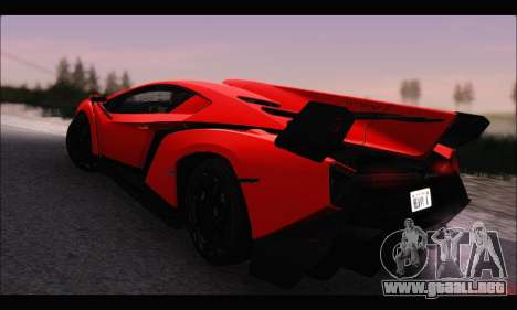 Lamborghini Veneno White-Black 2015 (HQLM) para GTA San Andreas left