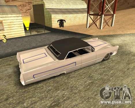 Cadillac DeVille Lowrider 1967 para GTA San Andreas vista hacia atrás