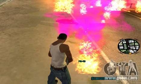 New Pink Effects para GTA San Andreas sexta pantalla
