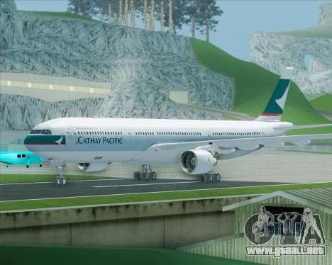Airbus A330-300 Cathay Pacific para GTA San Andreas left