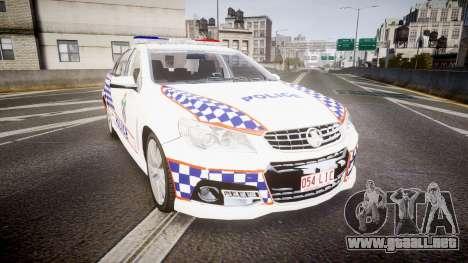 Holden VF Commodore SS Queensland Police [ELS] para GTA 4