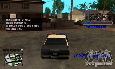 FBI C-HUD para GTA San Andreas sucesivamente de pantalla
