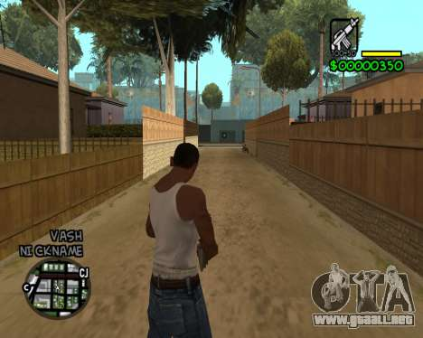 C-HUD by Tawerhudov para GTA San Andreas