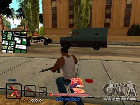 C-HUD by HudMud para GTA San Andreas sucesivamente de pantalla