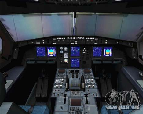 Airbus A330-300 Cathay Pacific para GTA San Andreas vista hacia atrás