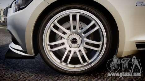 Ford Mustang GT 2015 SPEEDCREED para GTA 4 vista hacia atrás