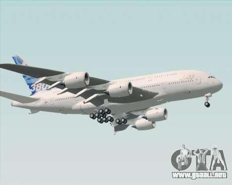 Airbus A380-800 F-WWDD Etihad Titles para GTA San Andreas left