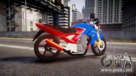 Honda Twister 2014 para GTA 4 left