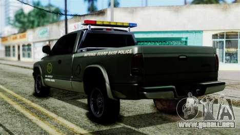 Dodge Dakota National Guard Base Police para GTA San Andreas left