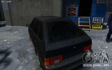 VAZ 2114 para GTA 4 vista hacia atrás