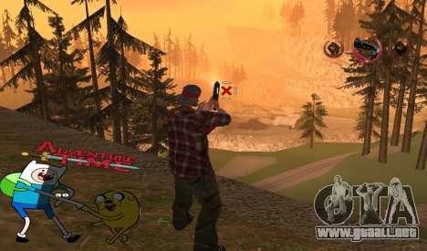 C-HUD Jack and Finn para GTA San Andreas segunda pantalla