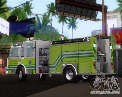 Pierce Arrow XT Miami Dade FD Engine 45 para GTA San Andreas vista hacia atrás
