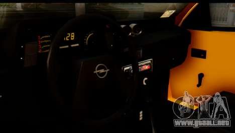 Opel Kadett GSI Drag 2015 para GTA San Andreas vista posterior izquierda