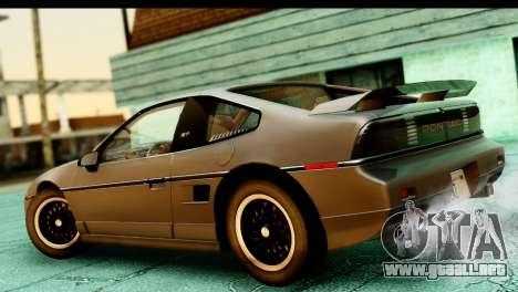 Pontiac Fiero GT G97 1985 HQLM para GTA San Andreas vista posterior izquierda