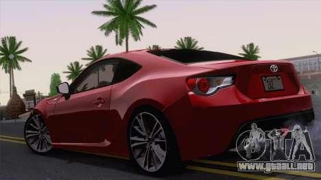 Toyota GT86 (ZN6) 2012 para la visión correcta GTA San Andreas
